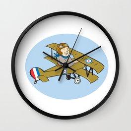 Sopwith Camel Scout Airplane Cartoon Wall Clock