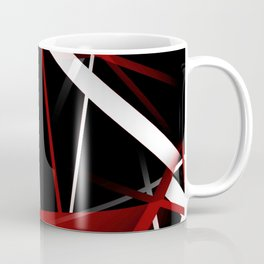 Seamless Red and White Stripes on A Black Background Coffee Mug