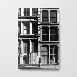 New York City, Soho Series, Black & White 3 Metal Print