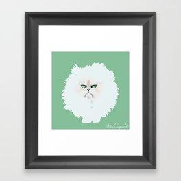 Fluffy nasty cat Framed Art Print
