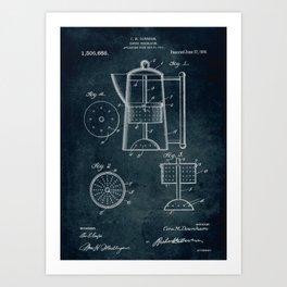 1917 - Coffee percolator patent art Art Print