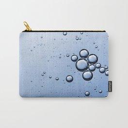 Blue Bubbles Carry-All Pouch
