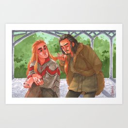 Courting a King [Barduil] Art Print