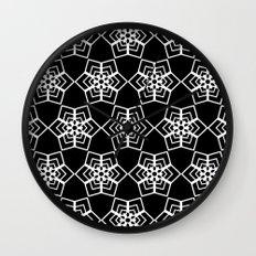 Snowflakes 2 Wall Clock