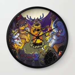 Animal summer camp Wall Clock