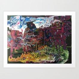 Dreaming in technicolour Art Print