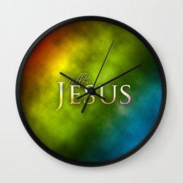 Follow Jesus (green) - Bible Lock Screens Wall Clock