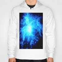 nebula Hoodies featuring nebulA. Bright Blue by GalaxyDreams