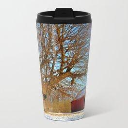 Snow Yard, Yashica C, Ektar 100, Film, Medium Format Travel Mug