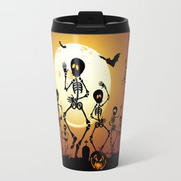 Skeletons Macabre Dance Travel Mug