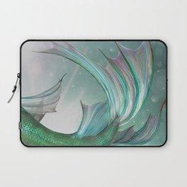 Mermaid, Ocean Sea, Pastel Purple,Teal, Green Laptop Sleeve