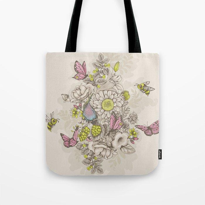 Beauty (eye of the beholder) - cream version Tote Bag