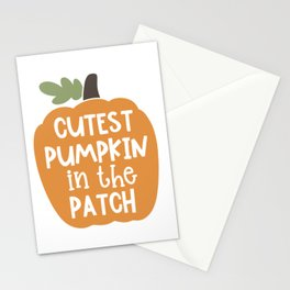 Cutest pumpkin in the patch Stationery Cards