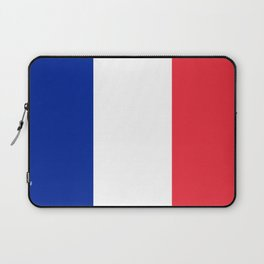 Flag of France, Authentic color & scale Laptop Sleeve