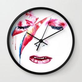 David Bowie - Alladin Sane - by Emma Parrish Wall Clock
