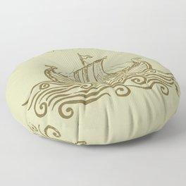 Viking ship Floor Pillow