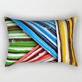 Striped Planes Rectangular Pillow