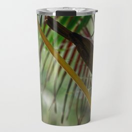 Blue-faced honeyeater on a palm tree Travel Mug