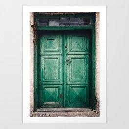 Green old door Art Print