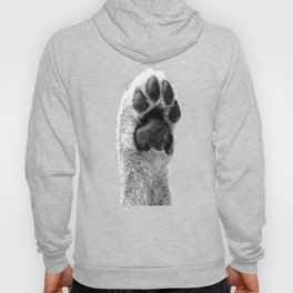 Black and White Dog Paw Hoody
