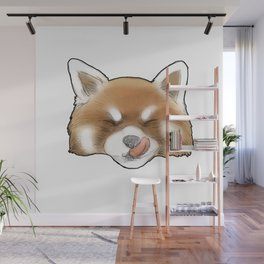 Red Panda II - Cheeky (Black Outline) Wall Mural