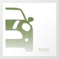 mini Art Prints featuring MINI by ARCHIGRAF