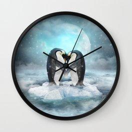 Listen Hard (Penguin Dreams) Wall Clock