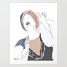Patti LuPone - With One Look Art Print