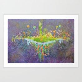 Aeolus 's flying island Art Print