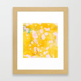speckled marble | yellow Framed Art Print