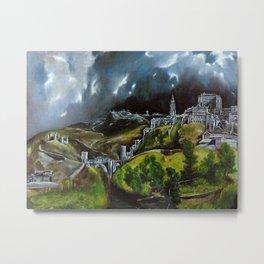 View Of Toledo Metal Print
