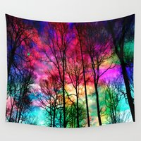 shiva Wall Tapestries featuring Colorful sky by haroulita