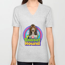 Basset Hound dog  Unisex V-Neck