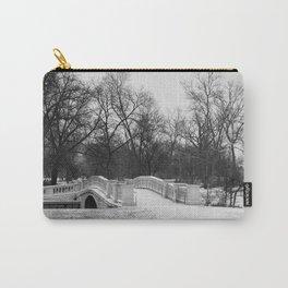 Winter Solitude - St. Louis Snowy Bridge Carry-All Pouch