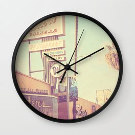 Los Angeles. Canters Deli photograph Wall Clock