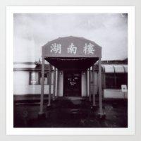 Hunan Garden through a Holga Art Print