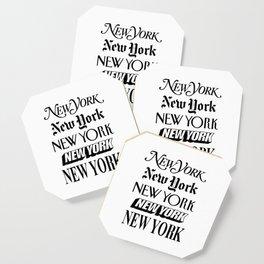 I Heart New York City Black and White New York Poster I Love NYC Design black-white home wall decor Coaster