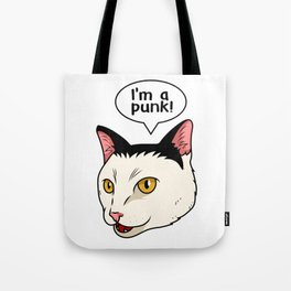 Punk Cat Music Lover Concert Rock Music Tote Bag
