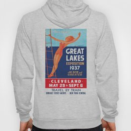 1937 Great Lakes Exposition Advertising Poster Hoody