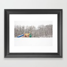 Snowy playground  Framed Art Print
