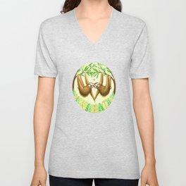 Sloths in Love Unisex V-Neck