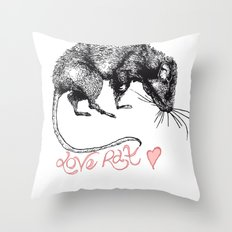 love rat Throw Pillow