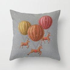 Flight of the Deer - colour option Throw Pillow