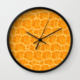 Orange Pattern Wall Clock