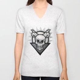 Demon Skull Unisex V-Neck