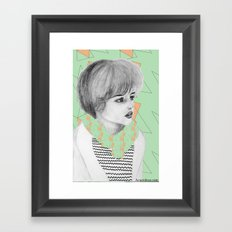 babe Framed Art Print