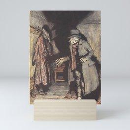 Arthur Rackham - Dickens' Christmas Carol (1915): Scrooge and His Shadow Mini Art Print