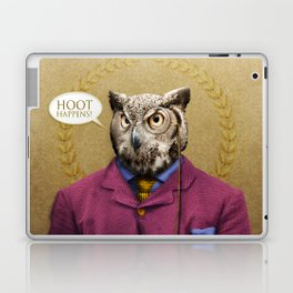 "Mr. Owl says: ""HOOT Happens!"" Laptop & iPad Skin"