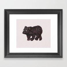 blind as a bear Framed Art Print