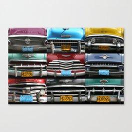 Cuba Car Grilles - Horizontal Canvas Print